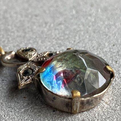 1930's Iris Glass Pendant Top(1930年代 アイリスガラス ペンダントトップ)