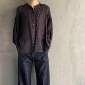 ikkuna/suzuki takayuki lantern-sleeve blouse(イクナ/スズキタカユキ ランタンスリーブ ブラウス)Charcoal Gray