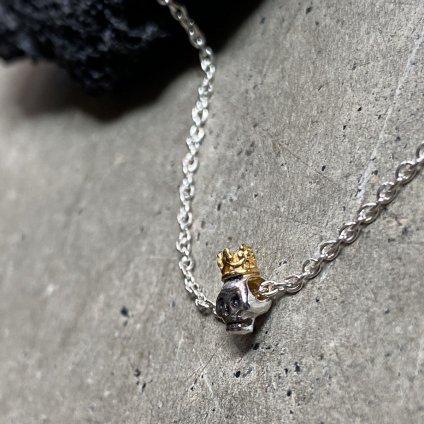 momocreatura  Queen Skull Bracelet(女王のスカル ブレスレット 燻しシルバー×ゴールド)