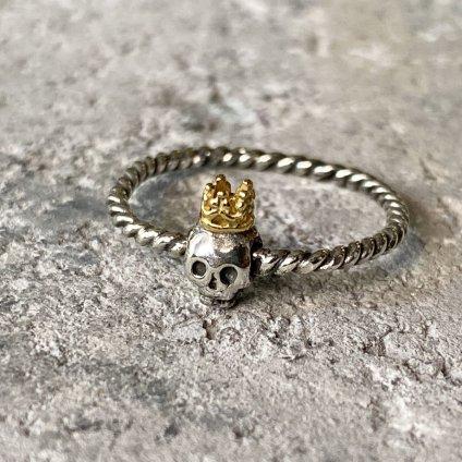 momocreatura  Queen Skull Ring(女王のスカル リング 燻しシルバー×ゴールド)