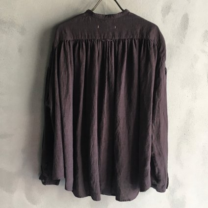 ikkuna/suzuki takayuki gathered blouse(イクナ/スズキタカユキ ギャザード ブラウス)Charcoal Gray