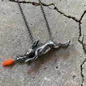 momocreatura  Rabbit & Carrot Necklace(うさぎとニンジン ネックレス 燻しシルバー)