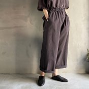 ikkuna/suzuki takayuki wide pants(イクナ/スズキタカユキ  ワイドパンツ)Charcoal Gray