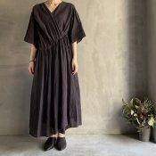 ikkuna/suzuki takayuki cache-coeur dress (イクナ/スズキタカユキ カシュクールドレス)Charcoal Gray