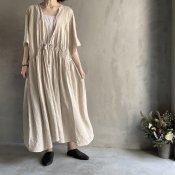 ikkuna/suzuki takayuki cache-coeur dress (イクナ/スズキタカユキ カシュクールドレス)Nude