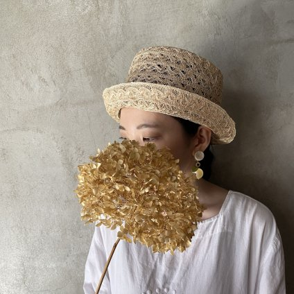 tocit Bucket  (トチエット アバカレース編みのハット)natural