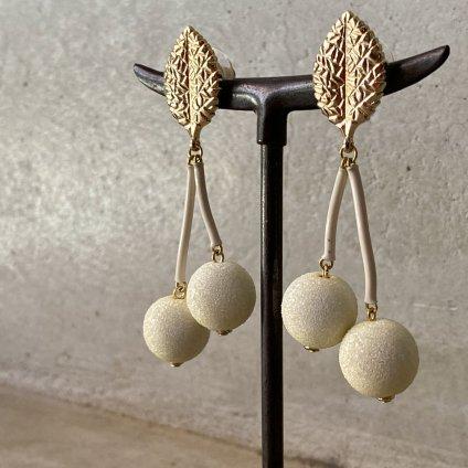 1960's French White Cherry Earrings(1960年代 フランス ホワイトチェリー ピアス)DEAD STOCK