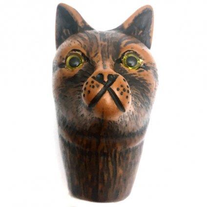 Guy de Jean (ギドゥジャン) 折りたたみ傘 猫 Prune×Pink