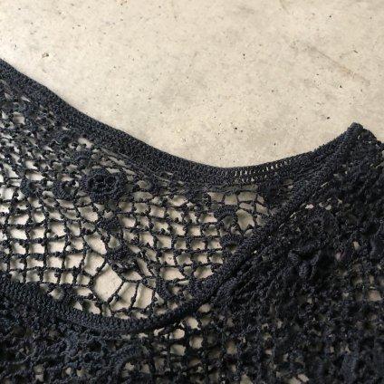 Antique Cotton Clochette Lace tops(アンティークコットン クロシェ レース トップス)