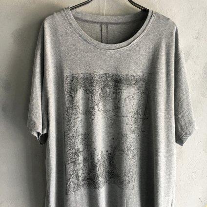 ikkuna/suzuki takayuki print T-shirt i (イクナ/スズキタカユキ プリントTシャツ i)Heather Gray