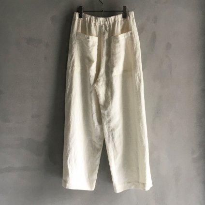 ikkuna/suzuki takayuki easy pants(イクナ/スズキタカユキ  イージーパンツ)White