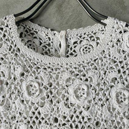 Antique Cotton Clochette Lace No Sleeve(アンティークコットン クロシェ レース ノースリーブ)