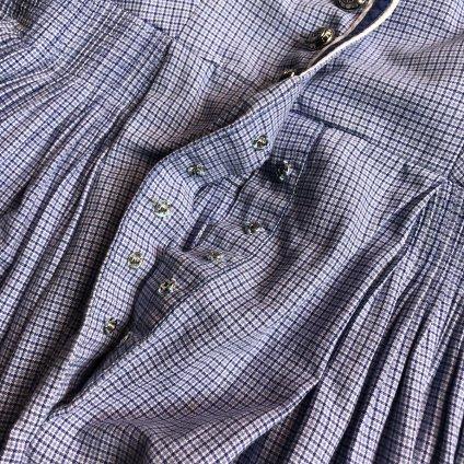 Vintage Cotton Check Sleeveless Onepiece(ヴィンテージ ドイツ チェックノースリーブワンピース)