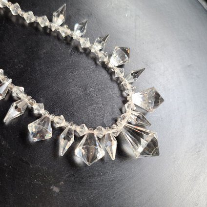 Crystal Glass Clear Necklace(クリスタルガラス クリア ネックレス)