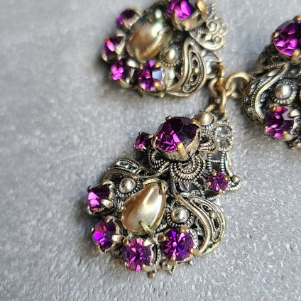 1920-30's Filigree Glass Necklace(1920-1930年代 フィリグリー ガラス ネックレス)