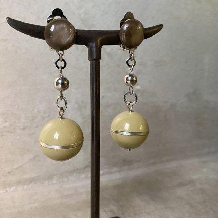 1960's French Grey&Green Ball Earrings(1960年代 フランス グレー&グリーン ボール イヤリング)DEAD STOCK