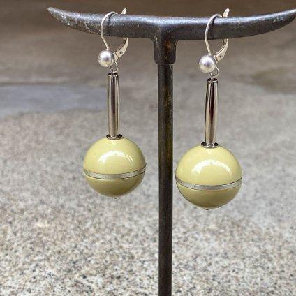 1960's French Green Ball Drop Earrings(1960年代 フランス グリーンボール スウィング ピアス)DEAD STOCK