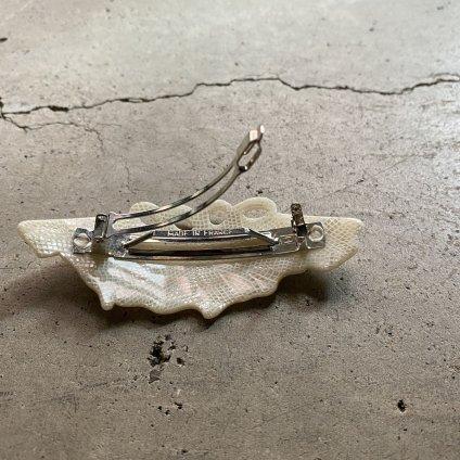 1960's French Ivory Hair Clip(1960年代 フランス プラスチック アイボリー バレッタ)DEAD STOCK