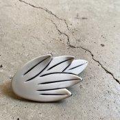 1960's French White Leaf Hair Clip(1960年代 フランス プラスチック ホワイト リーフ バレッタ)DEAD STOCK