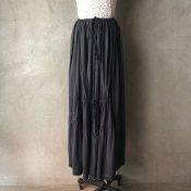 <img class='new_mark_img1' src='https://img.shop-pro.jp/img/new/icons13.gif' style='border:none;display:inline;margin:0px;padding:0px;width:auto;' />Antique Cotton Shirring Skirt(アンティークコットン シャーリング スカート 後染め)