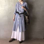 <img class='new_mark_img1' src='https://img.shop-pro.jp/img/new/icons20.gif' style='border:none;display:inline;margin:0px;padding:0px;width:auto;' />【50%OFF】Vintage Cotton Check Long Shirts(ヴィンテージ コットン チェック ロングシャツ )