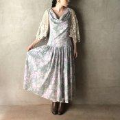 Vintage Laura Ashley Floral Shoulder Dress(ヴィンテージ ローラアシュレイ 花柄 ショルダー ドレス)