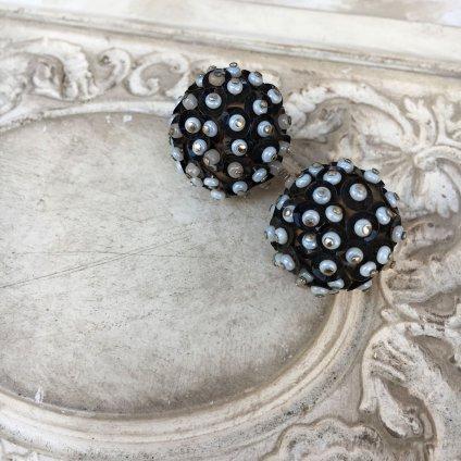 1960's UK Beads Earrings(1960年代 イギリス ビーズ イヤリング)