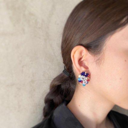 1940's French Madeleine Riviere Glass Earrings(1940年代 フランス マドレーヌ・リヴィエール ガラスイヤリング)