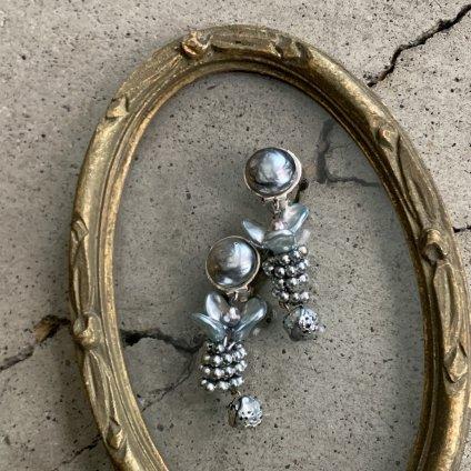 1950's French Louis Rousselet Glass Pearl Earrings(1950年代 フランス ルイ・ロスレー ガラスパール イヤリング)