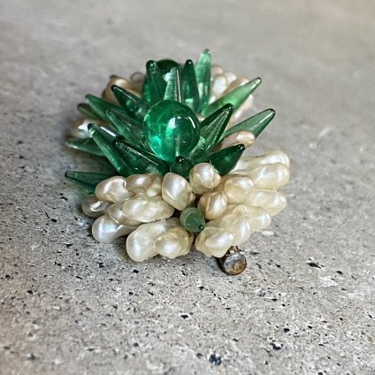 1940-50's French Louis Rousselet Glass Brooch(1940-50年代 フランス ルイ・ロスレー ガラス ブローチ)