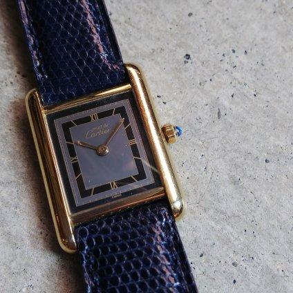 Cartier MUST TANK (カルティエ マスト タンク)グレーブラック ローマン文字盤 SM