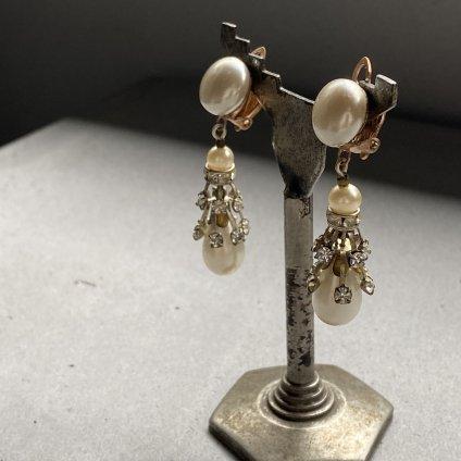 1940's French Pearl Earrings(1940年代 フランス パール イヤリング)