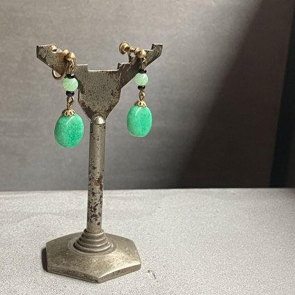 1920 - 30's Peking Glass Earrings(1920〜30年代  ペキンガラス イヤリング)