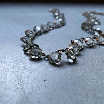 1920's Clear Glass Necklace( 1920年代 クリアガラス ネックレス)