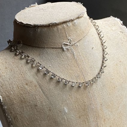1930's Clear Glass Chocker Necklace( 1930年代 クリアガラス チョーカー ネックレス)