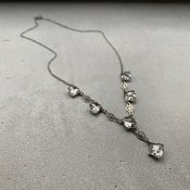 1930's Art Deco Clear Glass Necklace( 1930年代 アールデコ クリアガラス ネックレス)