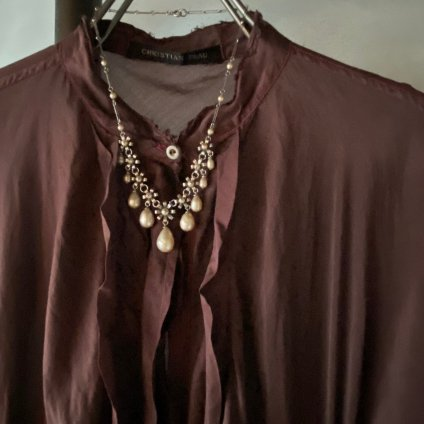 1930's Louis Rousselet Pearl Drop Flower Necklace( 1930年代 ルイ ロスレー パールドロップ フラワー ネックレス)