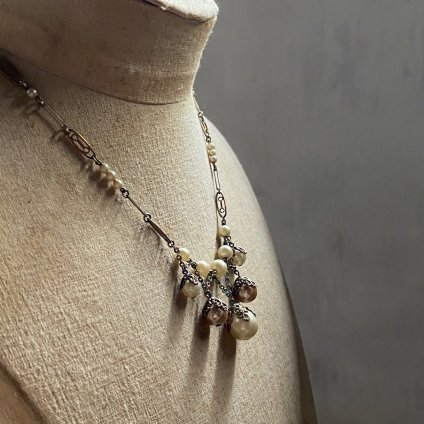 1930's Louis Rousselet Pearl Filgree Necklace( 1930年代 ルイ ロスレー パール フィリグリーネックレス)