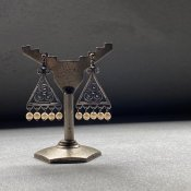 1940's Louis Rousselet Triangle Earrings( 1940年代  ルイ ロスレー トライアングル イヤリング)