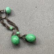 1930's Louis Rousselet Peking Glass Long Earrings( 1930年代  ルイ ロスレー ペキンガラス ロングイヤリング)