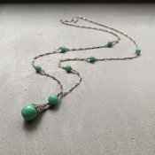 1930's Louis Rousselet Peking Glass Long Necklace( 1930年代 ルイ ロスレー ペキンガラス ロングネックレス)