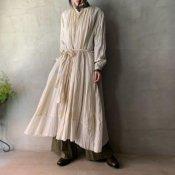 <img class='new_mark_img1' src='https://img.shop-pro.jp/img/new/icons13.gif' style='border:none;display:inline;margin:0px;padding:0px;width:auto;' />【予約販売】suzuki takayuki flared dress(スズキタカユキ フレアドドレス)Beige