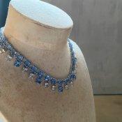 1920's Art Deco Square Cut Glass Necklace( 1920年代 アールデコ スクエアカットガラス ネックレス)