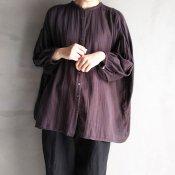ikkuna/suzuki takayuki balloon-sleeve blouse(イクナ/スズキタカユキ バルーンスリーブ ブラウス)Charcoal Gray