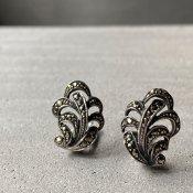 1930's Silver Marcasite Earrings(1930年代 シルバー マーカサイト イヤリング)