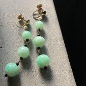 1930's Art Deco Glass Earrings(1930年代  アールデコ ガラス イヤリング)