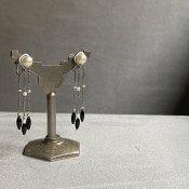 1920's Louis Rousselet Glass Pearl Earrings(1920年代  ルイ ロスレー ガラスパール イヤリング)