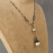 1930's Louis Rousselet Glass Pearl Necklace(1930年代 ルイ ロスレー ガラス パール ネックレス)