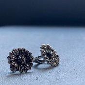 1930's Silver Marcasite Flower Earrings(1930年代 シルバー マーカサイト フラワー イヤリング)