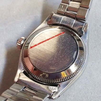 <img class='new_mark_img1' src='https://img.shop-pro.jp/img/new/icons13.gif' style='border:none;display:inline;margin:0px;padding:0px;width:auto;' />ROLEX OYSTER PERPETUAL(ロレックス オイスター パーペチュアル)ホワイトローマン 純正巻きブレス